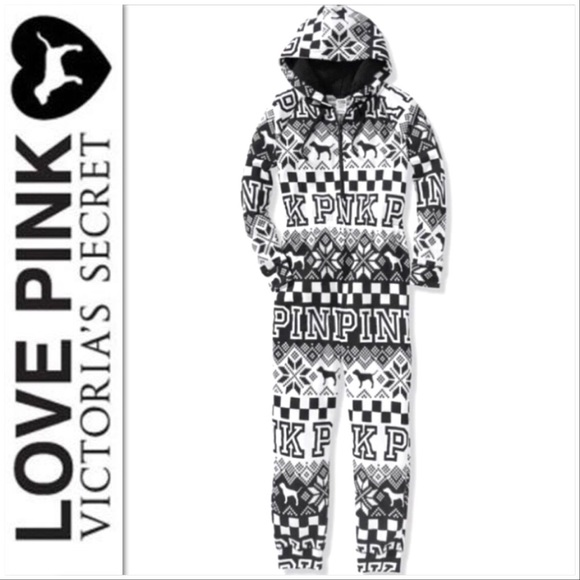 2829ad2b1 Victoria's Secret PINK Sherpa Onesie Pajamas NWT